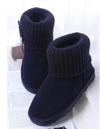 2019 botas de invierno para hombres 2019 Nueva Moda Hombre Mujer Botas de Nieve Estilo Australiano Tejido Volcado Vaca Suede Leather Winter Warm Botines Marca rebajas botas de invierno para hombres