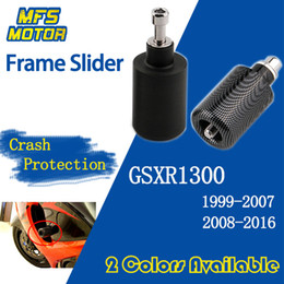 filtro rei Desconto Slider do quadro para GSXR1300 GSX-R GSXR 1300 GSX 1300R Hayabusa Falling Crash Pad Protection 1999-2016