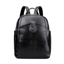 2019 sacolas de mulher a4 Nesitu Alta Qualidade A4 Nova Moda Preto de Couro Genuíno das Mulheres Mochila Feminina Senhora Menina Sacos de Viagem de Pele Real M6635 sacolas de mulher a4 barato
