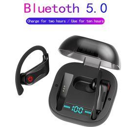 Pro-headset online-Power HBQ Pro Q62 Tws V5.0 Kopfhörer Drahtlose Bluebooth Kopfhörer Stereo Sport Ohrbügel Kopfhörer 950mah Wasserdichte Headsets HD MIC HBQ
