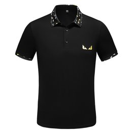 2019 estate Italia designer polo a righe magliette serpente polos ape ricamo floreale mens High street moda cavallo medusa polo T-shirt da magliette di colore chiaro all'ingrosso fornitori