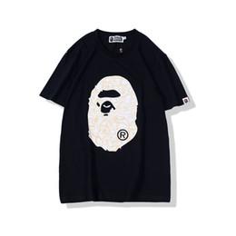 Рубашки для камуфляжа онлайн-Lover Camo Cartton Printing Футболка с круглым вырезом Мужчины Женщины Повседневная Свободная шея с круглым вырезом Черно-белые футболки