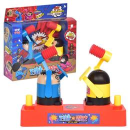 Bambini giocattoli interattivi online-Bambini di plastica doppio Battaglia Gioco da tavolo Giocattolo di salvataggio giochi interattivi di stress Gioco di nascondino di martello per bambini Festa regalo novità giocattoli per bambini