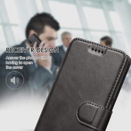 Handy-beutel online-Widenelectrics Side Flip Plain Leder Handyhülle für Samsung A20 A30 Brieftasche Muster Multi Farben mit OPP-Tasche