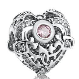 2019 perlenorchidee Rosa CZ Herz Charms Perlen Original 925-Sterling-Silver-Jewelry Orchidee Blume Perle Für DIY Charme Armbänder Zubehör Machen günstig perlenorchidee