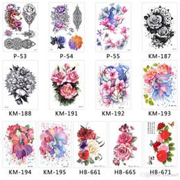 Flügel tattoo hand online-3D bunte wasserdichte Körperkunst-Hülse DIY Aufkleber-Funkeln-vorübergehende grelle Tätowierungen-Blumen-Schmetterlings-Feder-Flügel-Bikini-Dekoration