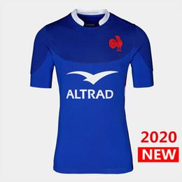 2019 jersey de rugby ao atacado vendas Hot 2020 France casa de rugby camisa camisa da equipe nacional jérseis França de rúgbi DHL transporte livre