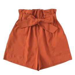 Pantalones cortos de moda sexy coreano online-2019 Primavera Verano Nuevo Estilo Coreano Mujer Moda Sexy Mujeres Bolsillo Suelta Pantalones Calientes Señora Summer Beach Femme Shorts Pantalones