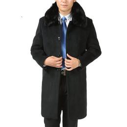 Giacche in velluto xxxl online-Nuovo arrivo Cappotto di lana più spesso Cappotto imbottito di velluto Lungo Giacca a vento Cappotto invernale Uomo Taglia M L XL XXL XXXL