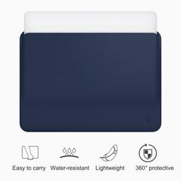 Funda de piel macbook pro 15 online-WiWU manga del ordenador portátil para el caso pulgadas resistente al agua cuero de la PU para el bolso Pro 13 15 pulgadas ultra-delgado del maletín para laptop