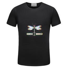 Canada 100% coton luxe hommes t-shirts hommes coton libellule Designer marque t-shirts hommes Vintage ras du cou hommes top t-shirts t-shirt à manches courtes cheap men s long sleeve t shirts Offre