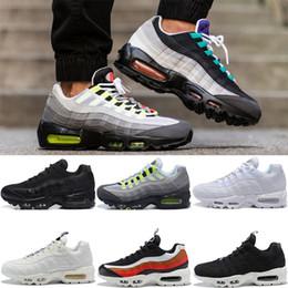 Scatola di superficie online-Nike air max 95 airmax 95 Con Box 2019 Chaussures Mens Classic Nero Rosso Bianco Sport Trainer Cuscino di superficie Sneakers sportive traspiranti con scarpe 36-46