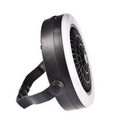 2019 wiederaufladbare magnetische lampe Outdoor-Camping tragbare USB aufladbare LED Multifunktions-Ventilator-Licht Hängezeltlampe