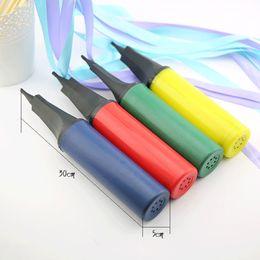 Portable Plastic balloon swim ring Inflatable Ball Hand Air Pump random colo BB