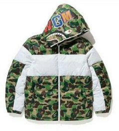 Ropa de camuflaje blanco online-Camuflaje verde blanco abajo chaquetas para hombre mujer chaquetas abrigos invierno grueso prendas de abrigo Parkas ropa para hombre Tops
