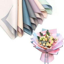 decorações de festa rosa de bolinhas Desconto 400 pcs Flores Coreanas Two-tone Embalagem De Papel De Embrulho De Papel Neutro Florista De Papel De Embrulho Flor Buquê Suprimentos 8A1789