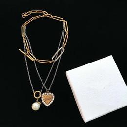 pendentifs en argent pas cher Promotion Nouveau et amour pendentif en cristal pas cher alliage collier pull médaillon argent bijoux de mode