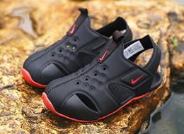 2019 estate classici marca ragazzi sandali comodi per bambini bambini sandali da spiaggia morbidi neonate traspiranti antiscivolo scarpe basse casuali da