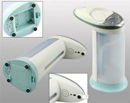 Caja de jabón gratis online-Dispensador automático de jabón líquido de inducción de plástico ABS Baño Jabones de cocina Magic Hands Free Sanitizer Dispensers With Package Box 20bn R