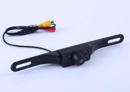 2019 caméra de plaque de stationnement Caméra de vue arrière de voiture de couleur CMOS de cadre de plaque d'immatriculation longue pour caméra de stationnement en marche arrière avec 7 LED IR Vison de nuit promotion caméra de plaque de stationnement
