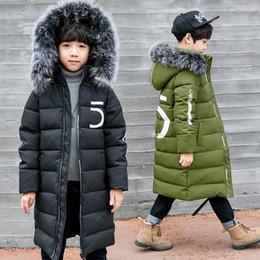 12-jährige kinderkleidung online-Winter verdicken windundurchlässiges Warm Kinder Coat Wasserdicht Kinderoberbekleidung Kinderkleidung Junge Jacken für 3-12 Jahre alt