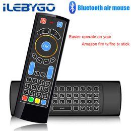 relè di controllo della tensione Sconti Bluetooth Mini Wireless Keyboard Telecomando Ir Air Mouse per Amazon Fire Tv / stick di fuoco / Tv android / mi Box / pc / raspberry Pi 3 T190628