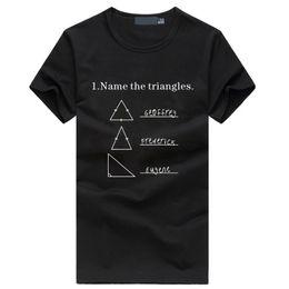 2019 camisas de marcas de nombre Name the Triangles Funny Math Geometry camiseta para hombre Nuevo estilo de verano Moda hiphop camiseta homme fitness ropa de marca casual rebajas camisas de marcas de nombre