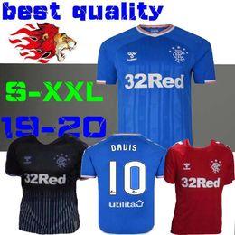 2019 xx xxl NOVO 2019 2020 Glasgow Rangers FC futebol em casa camisa de futebol azul TAVERNIER MURPHY 19 20 longe camisa de futebol preto vermelho tamanho S-XX desconto xx xxl