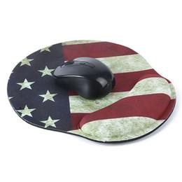 Коврик для мыши коврик мода онлайн-Мода мягкий сгущает ПК запястье коврик для мыши Коврик Звезда флаг шаблон для оптических/трекбол мыши Коврик для мыши