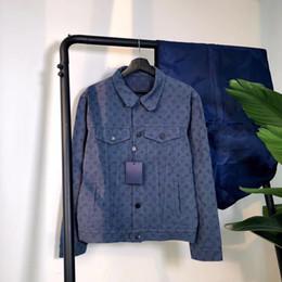giacca impermeabile impermeabile traspirante delle signore Sconti 20ss fantasia Parigi Blue Jackets di moda casual uomo e donna versione top giacca dimensioni di euro