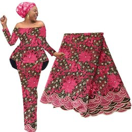 Material moldeado online-Nuevo material sudafricano tela de encaje con cuentas para la boda tela de encaje francés púrpura 2019 material de encaje de alta calidad