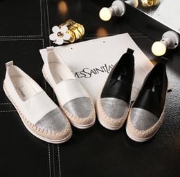 Enfermeras negras online-Moda zapatos planos negros para las mujeres Resbalón ocasional en los holgazanes Bailarina Pisos Zapatos de enfermera Mujer Alpargata Tenis Tallas grandes