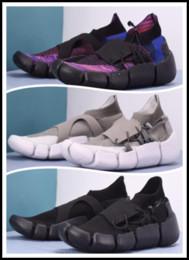 2019 mejores tejidos negros 2019 Nuevo Footscape NK DM zapatillas para hombre serie descalzo superficie tejida mejor calidad corredor negro Kanye West diseñador de zapatillas de marca botas de marca mejores tejidos negros baratos