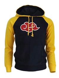 Canada Casual marque vêtements sweat à capuche 2019 automne hiver polaire sweat Raglan imprimer Naruto Akatsuki nuage rouge pull Harajuku Sweat cheap akatsuki clothes Offre