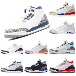 buy online eda52 1876a Herren Trainer Designer Basketballschuhe 3s Knicks Rivalen Mokka Katrina  Tinker JTH NRG Schwarz Cement Korea Pure White Sport Sneaker 40-47