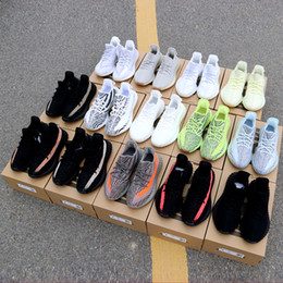 eb2852ce059ff with box 2019 3m reflective Yeezys Yezzy Yezzys Yeezy 350 Static Butter  Sesame Cream White Blue Tint Bred Beluga Hyperspace True form Clay 2.0  Kanye West ...