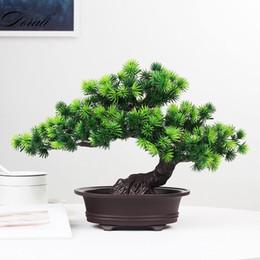 2019 pinheiros indoor Simulação bonsai enfeites de árvore em vaso de pinho grande acolhedor pinho plástico falso em vaso de simulação de plantas de pinho decoração de interiores desconto pinheiros indoor