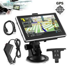 Navegação gps gps on-line-Navegador do caminhão do carro da navegação de 5 polegadas 3D GPS 256M + 8GB SAT NAV 2018 o mapa o mais novo