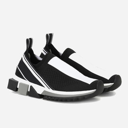Wholesale Роскошные модные мужские кроссовки Sorrento Sneaker Ткань Стрейч Джерси Слипоны Lady Двухцветная резиновая микро подошва повседневная обувь