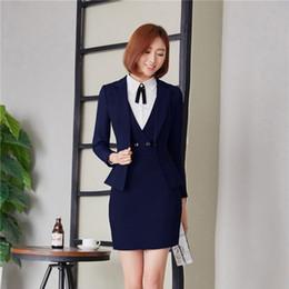 3e6fe4f9507de Satış profesyonel kışlık giysiler internet üzerinden - Sonbahar Kış  Profesyonel Iş Blazers Takım Elbise Bayanlar Üniforma