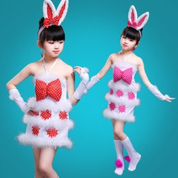 bunny cosplay dress Coupons - Party Kids Girls Bunny Rabbit Cosplay Costume Dance Dress Ear Headband Outfit Costume Kindergarten