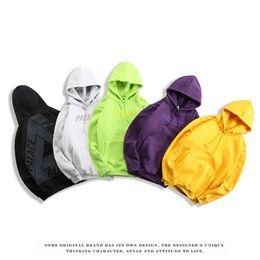 Marca TRI PALACES color sólido más terciopelo sudaderas otoño invierno polar hombres sudaderas con capucha marea monopatín suéter casual streetwear tamaño S-XXL desde fabricantes
