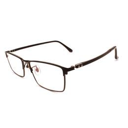 Очки для деловых мужчин онлайн-Men Alloy Business Full Rim Eyeglasses Frame Rectangular Fashion  Prescription Glasses Spectacles Eyewear for Male