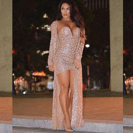 Gece Kulübü Sequins 2 Adet Set Elbise Payetli Seksi 2 Parça Set Hırka + Elbise Setleri Akşam Parti Parlayan Elbiseler Kadın Kıyafetler nereden