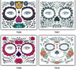 Lace Stile monouso Ombretto Sticker Face Magic Eye impermeabile tatuaggio temporaneo per bellezza Trucco teatrale Halloween Party da