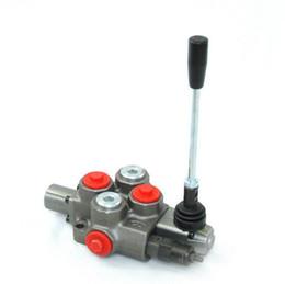 Types de vannes de contrôle en Ligne-Vanne de régulation hydraulique manuelle en gros à trois positions vanne de régulation à quatre voies o type 40LPM construction vanne monobloc