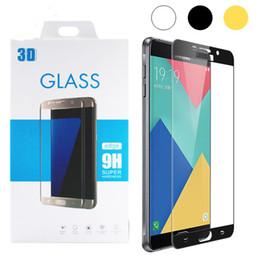 protector colorido templado del vidrio del iphone Rebajas Cubierta completa 2.5D 9H Vidrio templado colorido para P9 Samsung Galaxy Note 4 Note5 A5100 A7100 S6 S7 s8 A9 C5 C7 Protector de pantalla de cobertura total