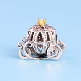 Deutschland NEUE Authentische 925 Sterling Silber kürbis Charm Set Original Box für Pandora DIY Armband Kristall Perlen Charms klassische mode-accessoires Versorgung