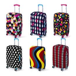 Capa de bagagem elástica on-line-Thicker Travel Suitcase Capa protetora bagagem caso capa de poeira Acessórios de Viagem Elastic bagagem Aplicar a 18-28 Suitcase