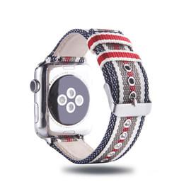 tela di mele Sconti cinturino in tela con cinturino per apple watch serie 4/3/2/1 banda iwatch 38mm / 40mm / 42mm / 44mm